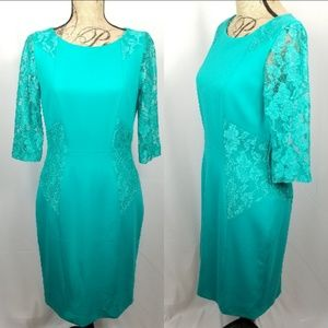 Antonio Melani Coctail Career Dress Size 6 Teal